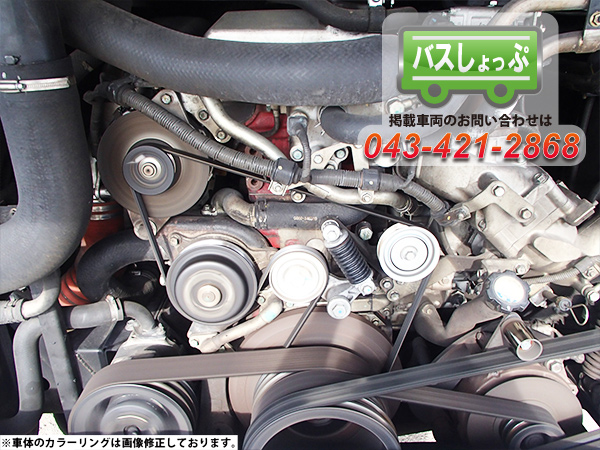 日野 大型 PKG-RU1ESAAのエンジン部分